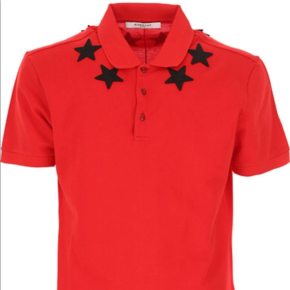 a2c4bee2 Givenchy Other - 100% Auth. Givenchy Red Men's Star Appliqué Polo